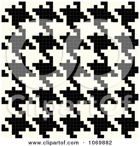 Clipart Vertical Seamless Houndstooth Pattern - Royalty Free Vector Illustration by Arena Creative