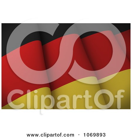 Clipart 3d Closeup Of A German Flag - Royalty Free CGI Illustration by stockillustrations