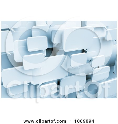 Clipart 3d Blank Dialog Chat Windows - Royalty Free CGI Illustration by stockillustrations