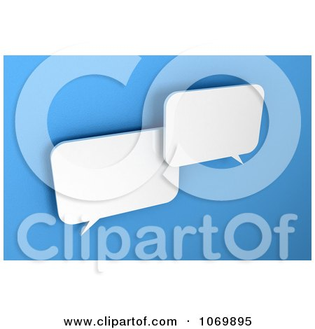 Clipart Two 3d Blank Dialog Chat Windows - Royalty Free CGI Illustration by stockillustrations