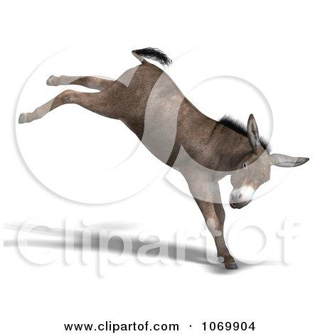 RoyaltyFree RF Bucking Mule Clipart Illustrations