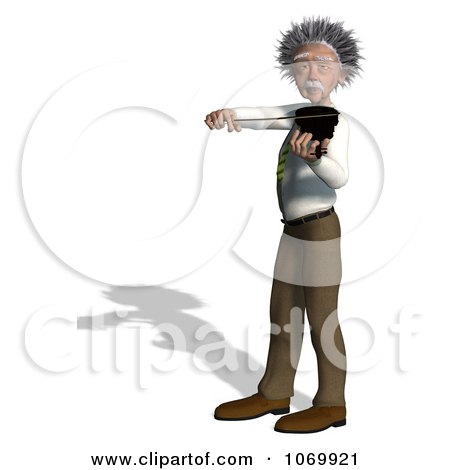 Clipart 3d Violinist Man Resembling Einstein 2 - Royalty Free CGI Illustration by Ralf61