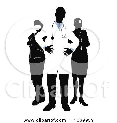 Clipart Posing Medical Team - Royalty Free Vector Illustration by AtStockIllustration