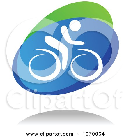 Clipart Cyclist Icon And Shadow 2 - Royalty Free Vector Illustration by Vector Tradition SM