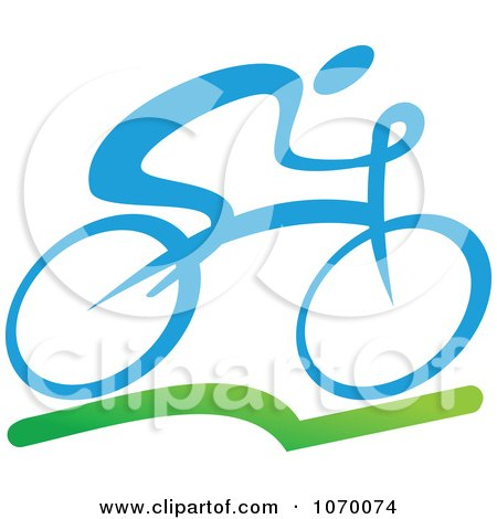 Clipart Cyclist Icon 1 - Royalty Free Vector Illustration by Vector Tradition SM