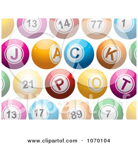 Clipart 3d Colorful Jackpot Lottery Balls - Royalty Free Vector Illustration by elaineitalia