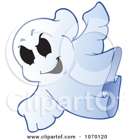 Clipart Spooky Halloween Ghost 2 - Royalty Free Vector Illustration by visekart