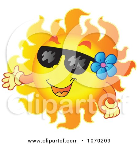 Clipart Presenting Summer Sun - Royalty Free Vector Illustration by visekart