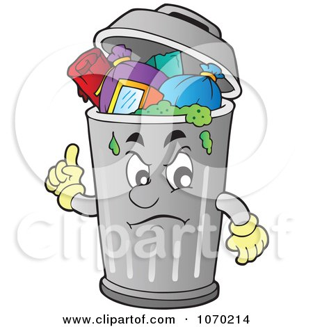 Clipart Trash Can Character - Royalty Free Vector Illustration by ...