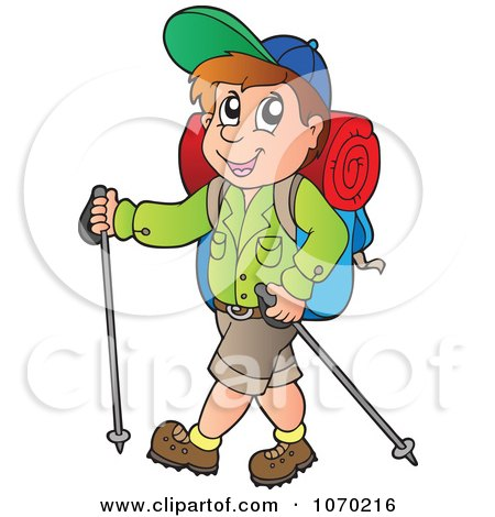 clipart graphic of a hiking scout girl reading a map royalty free rh clipartof com hiker clip art free girl hiker clipart