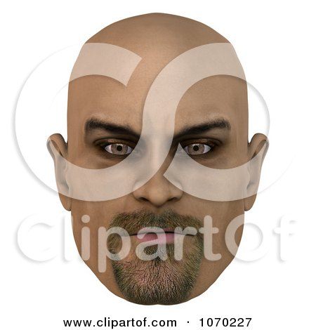 Clipart 3d Bald Mans Face 1 - Royalty Free CGI Illustration by Ralf61