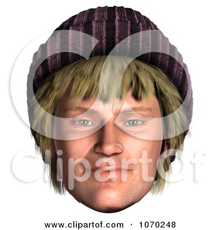 Clipart 3d Hippie Mans Face 4 - Royalty Free CGI Illustration by Ralf61
