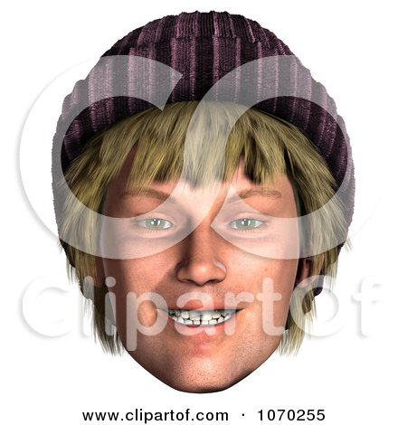 Clipart 3d Hippie Mans Face 3 - Royalty Free CGI Illustration by Ralf61