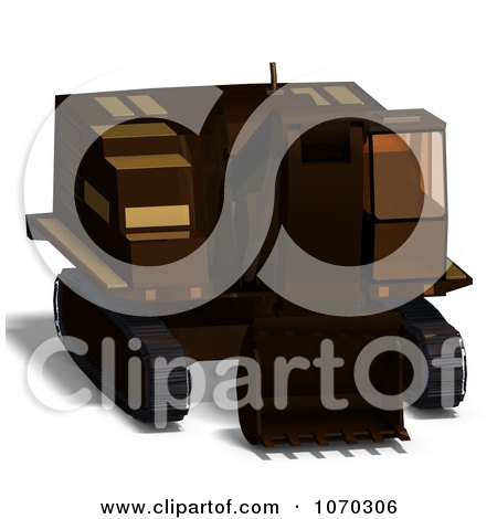 Clipart 3d Excavator 1 - Royalty Free CGI Illustration by Ralf61