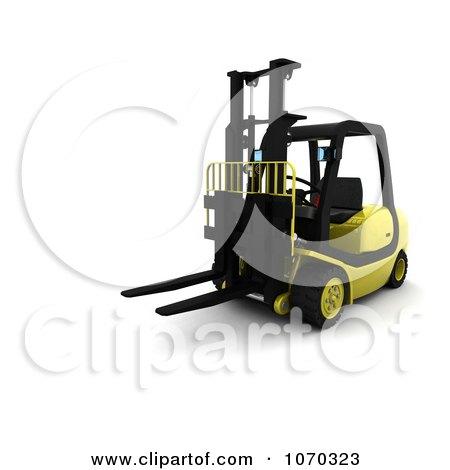 Clipart 3d Forklift - Royalty Free CGI Illustration by KJ Pargeter