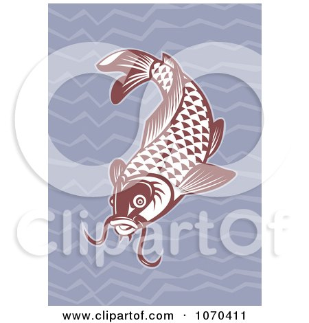 Clipart Red Carp Fish - Royalty Free Vector Illustration by patrimonio