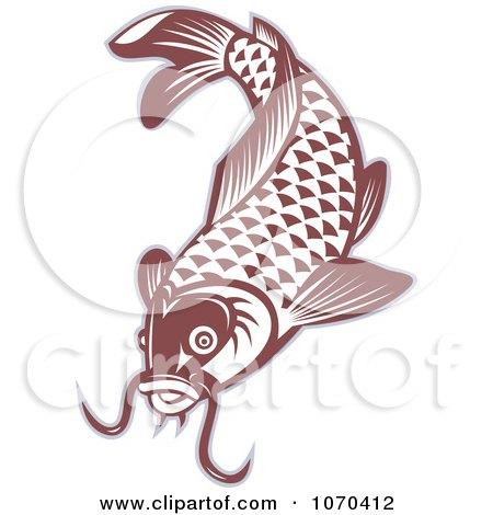 Clipart Red Carp Fish Logo - Royalty Free Vector Illustration by patrimonio