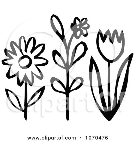 Small Spring Flowers Clip Art