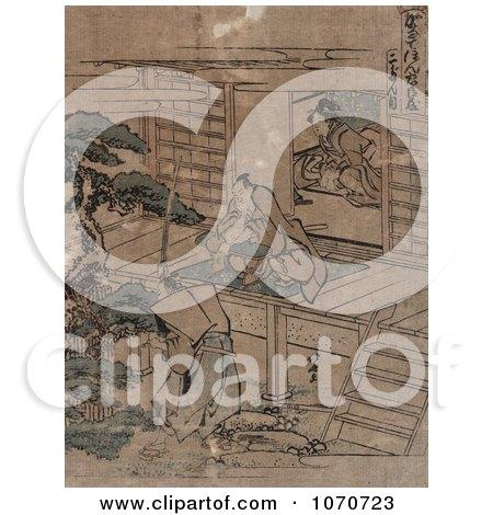 Royalty Free Historical Illustration of Act 2 of the Kanadehon Chushingura by JVPD