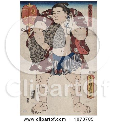 Royalty Free Historical Illustration of the Sumo Wrestler, Ichiriki by JVPD