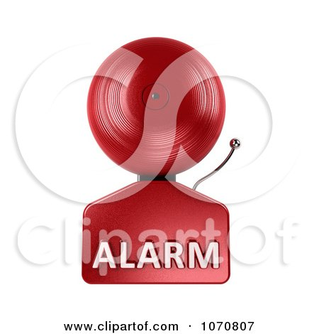 Clipart 3d Fire Alarm Bell With Alarm Text 1 - Royalty Free CGI Illustration by stockillustrations