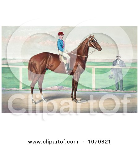 Illustration of a Rider, James Roe, On The Back Of A Horse, Harry Bassett - Royalty Free Historical Clip Art by JVPD