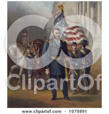 Illustration of General Ulysses S Grant - Royalty Free Historical Clip Art by JVPD