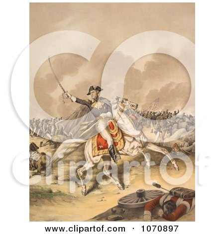 Illustration Of General Andrew Jackson, Battle of New Orleans - Royalty Free Historical Clip Art by JVPD