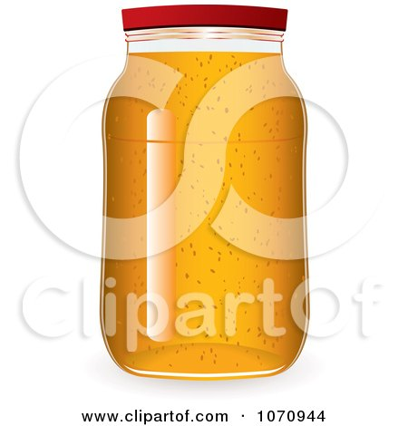 Clipart 3d Glass Jar Of Marmalade Jam Or Honey - Royalty Free Vector Illustration by michaeltravers
