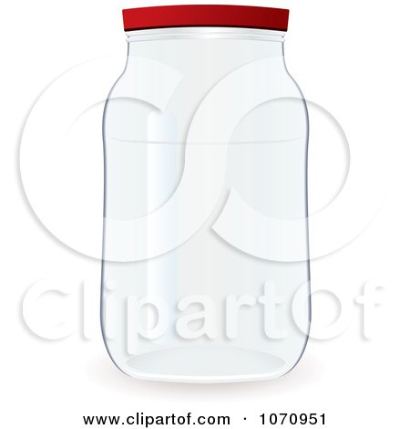 Clipart 3d Glass Jar - Royalty Free Vector Illustration by michaeltravers