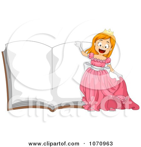 Princess Girl Over An Open Story Book Posters, Art Prints