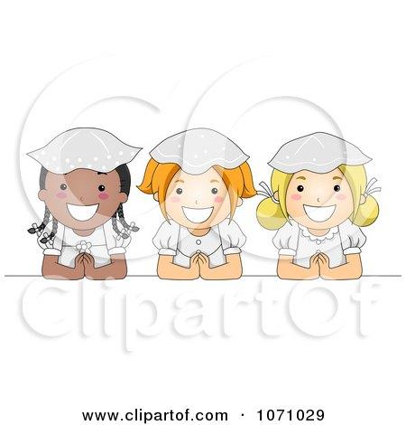Clipart Communion Girls - Royalty Free Vector Illustration by BNP Design Studio