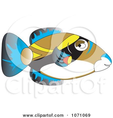 Clipart Hawaiian Trigger Fish Humuhumunukunukuapuaa - Royalty Free Vector Illustration by erikalchan