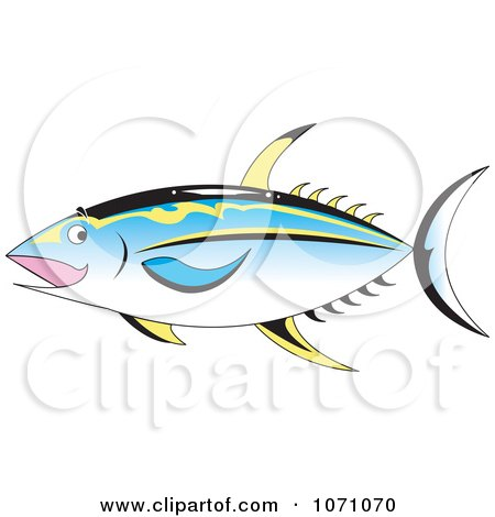 Clipart Ahi Tuna Fish - Royalty Free Vector Illustration by erikalchan