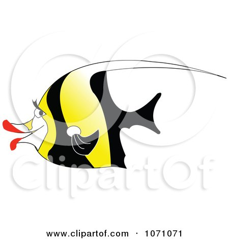 Clipart Moorish Idol Fish - Royalty Free Vector Illustration by erikalchan