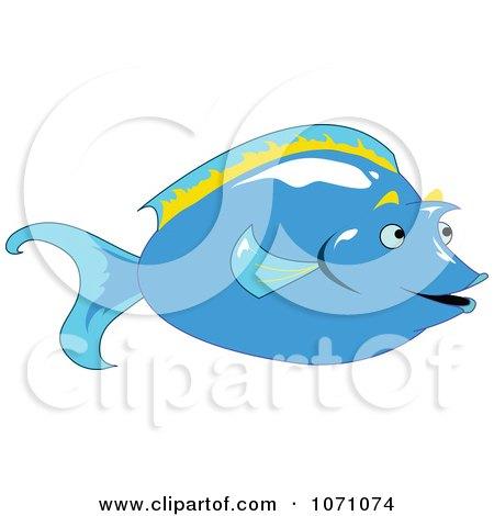 Clipart Unicorn Tang Fish - Royalty Free Vector Illustration by erikalchan