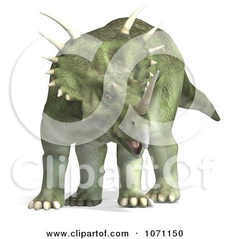 Clipart 3d Prehistoric Ceratopsian Styracosaurus Dinosaur 1 - Royalty Free CGI Illustration by Ralf61