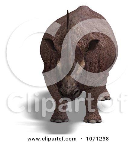 Clipart 3d Prehistoric Elasmotherium Steppe Rhiniceros Dinosaur 1 - Royalty Free CGI Illustration by Ralf61