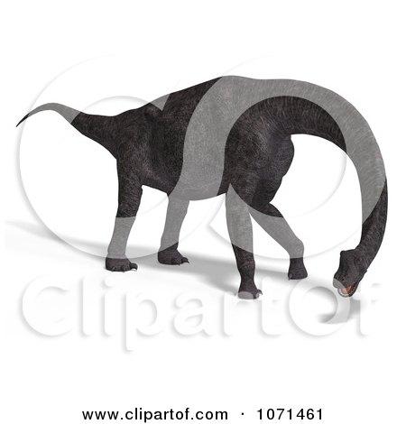Clipart 3d Prehistoric Brachiosaurus Dinosaur 30 - Royalty Free CGI Illustration by Ralf61