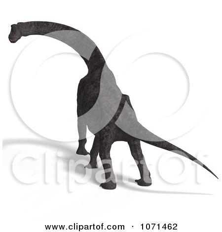 Clipart 3d Prehistoric Brachiosaurus Dinosaur 31 - Royalty Free CGI Illustration by Ralf61