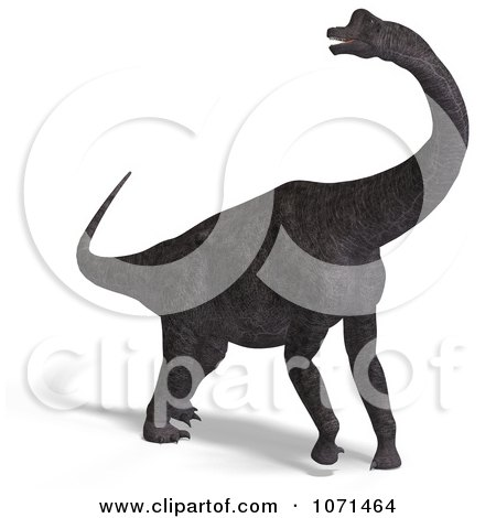 Clipart 3d Prehistoric Brachiosaurus Dinosaur 1 - Royalty Free CGI Illustration by Ralf61
