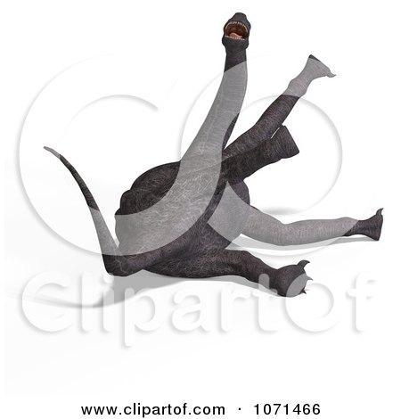 Clipart 3d Prehistoric Brachiosaurus Dinosaur Falling Down 5 - Royalty Free CGI Illustration by Ralf61