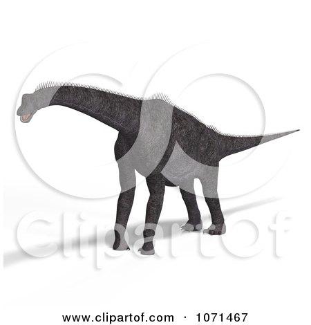 Clipart 3d Prehistoric Brachiosaurus Dinosaur 3 - Royalty Free CGI Illustration by Ralf61