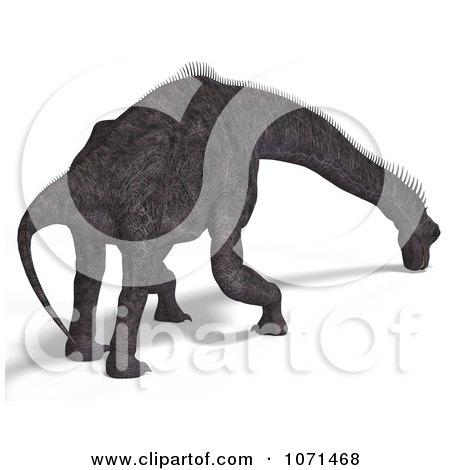 Clipart 3d Prehistoric Brachiosaurus Dinosaur Grazing 2 - Royalty Free CGI Illustration by Ralf61