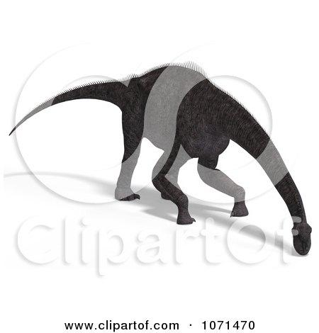 Clipart 3d Prehistoric Brachiosaurus Dinosaur Grazing 1 - Royalty Free CGI Illustration by Ralf61