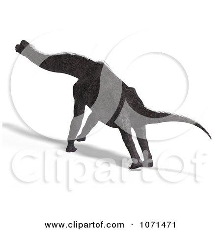 Clipart 3d Prehistoric Brachiosaurus Dinosaur 9 - Royalty Free CGI Illustration by Ralf61