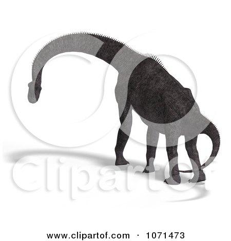 Clipart 3d Prehistoric Brachiosaurus Dinosaur 11 - Royalty Free CGI Illustration by Ralf61