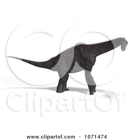 Clipart 3d Prehistoric Brachiosaurus Dinosaur 12 - Royalty Free CGI Illustration by Ralf61