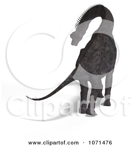 Clipart 3d Prehistoric Brachiosaurus Dinosaur 14 - Royalty Free CGI Illustration by Ralf61