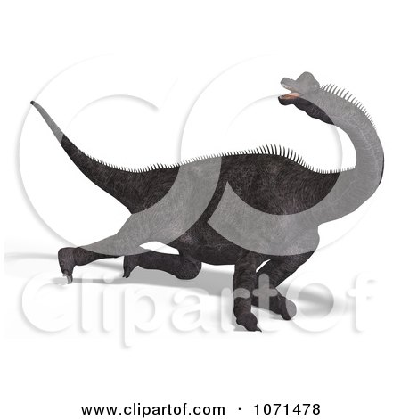 Clipart 3d Prehistoric Brachiosaurus Dinosaur Falling Down 2 - Royalty Free CGI Illustration by Ralf61